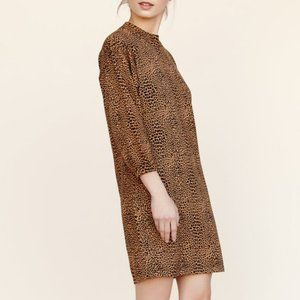 Callahan Leopard Mock Turtleneck Mini Dress Sz.M